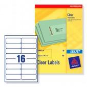 Avery Clear Inkjet Labels J8562-25