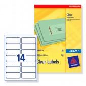 Avery Clear Inkjet Labels J8563-25