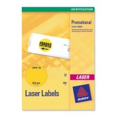 Avery Labels FluoYellow Laser L7670-25