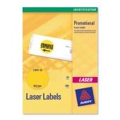Avery Labels FluoYellow Laser L7670-25