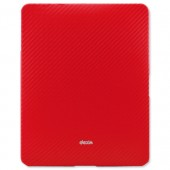 &Dexim iPad Carbon Fibre Slv Red DLA144R