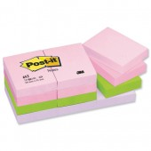 Post It Note 11/2x 2 Flrl Rbw 653FL pk12