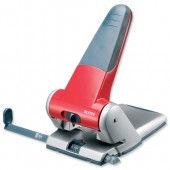 Leitz Heavy Duty Punch Red/Grey 5180-25