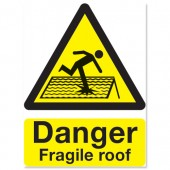 &Warning Fragile Roof Sign PP 400x300mm