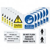 &Washroom Signage Kit