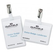 Durable Visitors NameBadge Lcap Pk5 8612