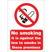 &No Smoking Sign A5 PVC SB003