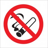 &No Smoking Vehicle Sn wht DSided SB013