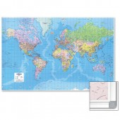 &Map Marketing Giant World Framed GWLDF