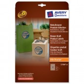 Avery Prd Lbl Round Brown Kraft L7106-20