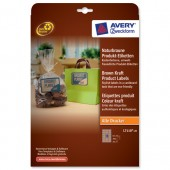 Avery Prd Lbl Rect Brown Kraft L7110-20