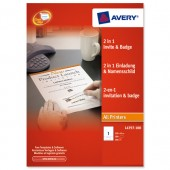 Avery 2n1 InvitLtr&Save NmeBdg L4797-100