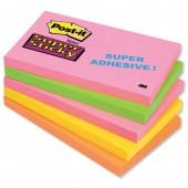 Post-it S/Sticky Neon Astd pk5 5x3 655SN