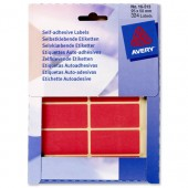 Avery Labels 50X25mm Red Pk324 16-313