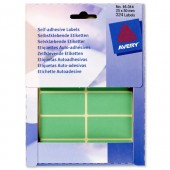 Avery Labels 50X25mm Green Pk324 16-314