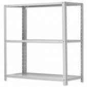 InfluxMD Bltd 3 Shelf Unit Grey