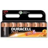 Duracell Plus Power Battery Size C Pk6