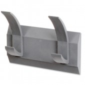 Acorn Linear 2 Coat Rack  Graphite