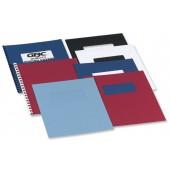 GBC A4 Cover Pln R/Blu Pk50Pr Ce040029