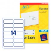Avery Labels White 14Tv Inkjet J8163-100