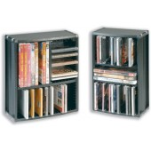 &Cmpcssry 35CD/21DVD Combo Tower Black