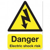 Danger Shock Risk 200x150mm KS002SAV