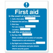First Aid Sign 230x195mm KS006SAV