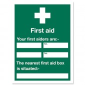 First Aid Sign 450x600mm KS008SAV