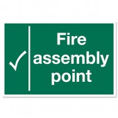 Fire Assembly Point 600x400 KS009PVC