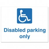 SS Disabled Parking Only Sign KS010