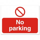 SS No Parking Sign KS011