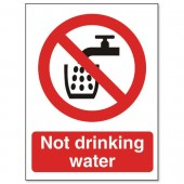 SS Not Drinking Water Sign P093PP