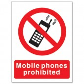 SS No Moblie Phones Sign P087PP