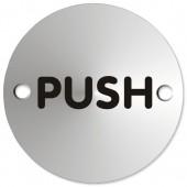 SS Satin Anodised Push SAA006