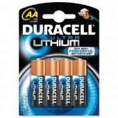 Duracell Lithium AA PK4 81291959