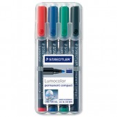 Staedtler Compact PermMkr Ast4 342WP4