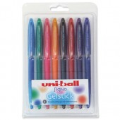Uni-ball UM170 SigNo Gelstick Rollerball Pen 0.7mm Tip 0.4mm Line Assorted Ref 153486411 [Wallet 8]