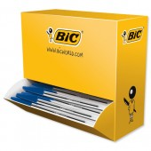 Bic Cristal Ball Pen Clear Barrel 1.0mm Tip 0.4mm Line Blue Ref 896039 [Pack 90 plus 10 FREE]