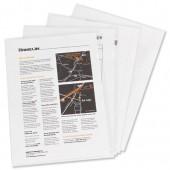 Elba Cut Flush Folder Clear Pk100 225208