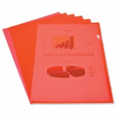 Elba Cut Flush Folder Red Pk100 224209