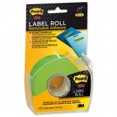 Post-it SStky Remb LabelRoll Grn 2600GEU