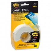 Post-it SStky Remb LabelRoll Wht 2600WEU
