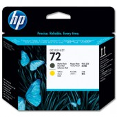 HP 72 Inkjet P/Head Matt Blk&Yell C9384A
