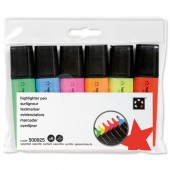 5 Star Office Highlighters Assorted Pk6