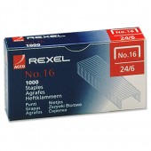 Rexel 16 Staples 6mm 06121 Bxd 1000