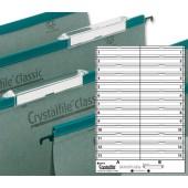 Rexel C/File Toptab Inserts 78290 Pk50