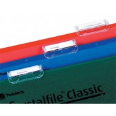Rexel Crystalfile Clear Plastic Tabs (Pack 50) for Suspension Files Ref 78020