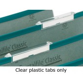 Rexel Crystalfile Top Tabs 78289 Pk50