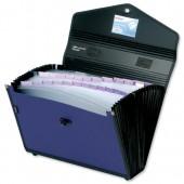 Snopake 24-Pt File Case Blu/Blk 13524