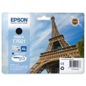 Epson T7021 Inkjet Cartridge Eiffel Tower XL High Capacity Page Life 2400pp Black Ref C13T70214010